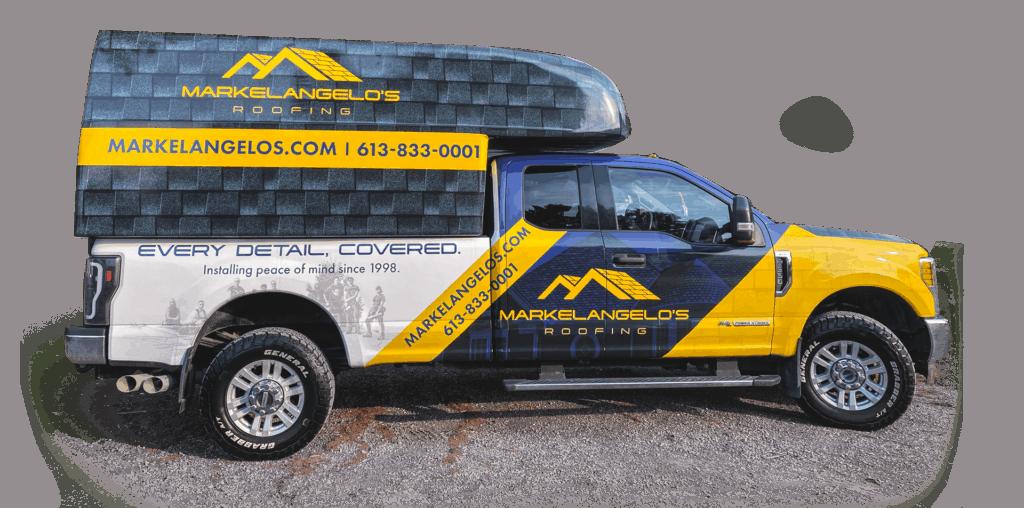 markelangelo's roofing truck
